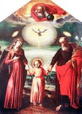 obraz z sanktuarium św. Józefa w Kaliszu