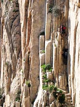 wejście na Camino del Rey