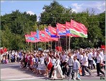 Tyraspol - parada w Dniu Niepodległości - fot. R.Simaczenko