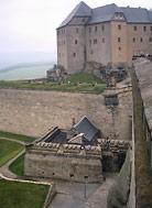 Königstein - widok od strony wejścia