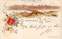 Warszawa– widok ogólny. Wysłana w 1901 r.