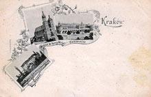 Kraków. Karta wydana przed rokiem 1900