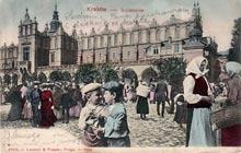Kraków– Sukiennice. Wysłana w 1903 r.