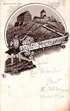Śnieżka. Widokówka wysłana w 1886 r.
