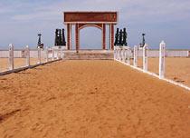 Pomnik na końcu Drogi Niewolników - stąd nie było już odwrotu...