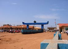 na granicy Ghana - Togo