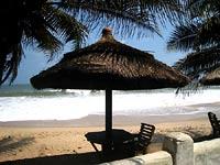 na plaży w Cape Coast