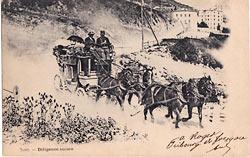 kartka wysłana ze Szwajcarii w 1900 r.